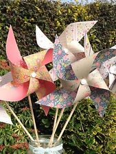 Paper Pinwheel Kit Wedding DIY Folk Rustic decorations