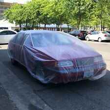 20 PACK Clear Plastic Temporary Universal Disposable Car Cover Rain Dust Garage