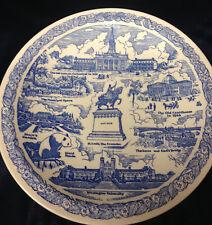 """VERNON KILNS CITY PLATE ST LOUIS MISSOURI SOUVENIR PLATE 10 1/2"""" BLUE"""