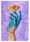 original painting A4 107FD art samovar watercolor modern Surrealism sketch