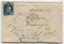 LETTRE ANCIENNE ALGERIE PHILIPPEVILLE / LE VAL / VAR / 1872 AVEC COURRIER