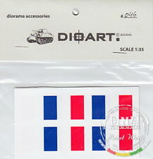 DioArt 1/35 All periods - 8 Flags (France) printed double sided on paper