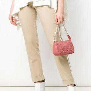 BNWT MICHAEL KORS Leather Pouchette Mini Shoulder Bag Wristlet Rose