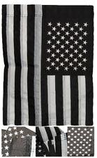 "12x18 Embroidered Usa Thin Grey Line 220D Nylon Sleeved Garden Flag 12""x18"""