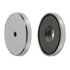 """Ceramic Magnet Cup Assembly - Magnetic Cup 100 Lb Pull Force - 3.20"""" .281 Hole"""