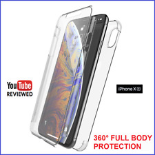 iPhone XR 360° FULL FRONT BACK PROTECTION CLEAR THIN Gel Silicone Case Cover NEW