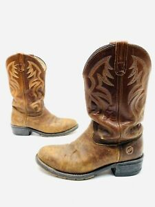 Double H Western Cowboy Motorcycle Ranch Wellington Boots 10.5 D Steel Toe