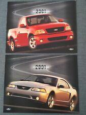 2x FORD SVT MUSTANG COBRA F150 Lightning Prospekt Brochure Sheet USA 2001 Z