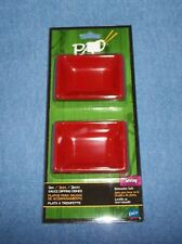 PAO!TM Red And Black Asian Sauce Dipping Dishes Set Of 2 1-Set of 2 **BRAND NEW*