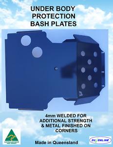 BASH PLATE BLACK 4mm WELDED H/DUTY Suitable for NISSAN NAVARA D22 2002-2015