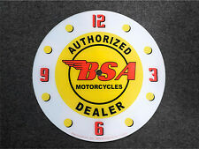 """*NEW*14.25"""" BSA MOTORCYCLE ROUND GLASS FACE FOR PAM CLOCK norton triumph"""