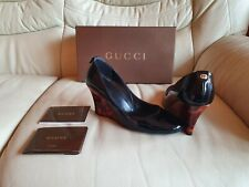 Gucci Ladies Black Wedges Shoes Size 36   UK 3  US 5