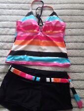 Sonoma Striped  Tankini/shorts Swimsuit sz 8