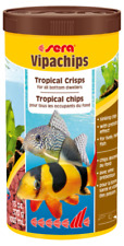 Sera Vipachips Tropical Crisps 370g 1L - Sinking Wafers Fish Food Bottom Feeder