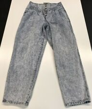 30x28 Vintage Gitano Express Frosted Acid Wash High Waist Jeans Button Fly 9/10