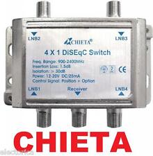 HEAVY DUTY CHIETA DISEqC MULTI-SWITCH 4X1 SATELLITE FTA LNB FREE TO AIR WSD-2041