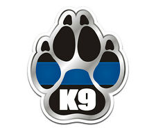 Thin Blue Line Police K9 decal - Canine & FREE Subdued FLAG decal --Ships FREE!