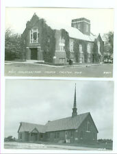 LOT OF 2 REAL PHOTO CRESTON, IOWA CHURCHES