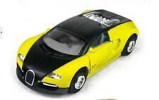 Bugatti Veyron Sports Car Light and Music  Yellow , Diecast Car Model Toys 1:32