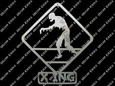 Zombie Crossing Metal Wall Art Sign Dorm Bed Room Mancave Decor Christmas Gift