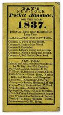 Pocket-Sized New York Almanac 1837