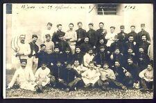 Carte Postale Photo RPPC 1913 MILITAIRES SOLDATS du 7ème Régiment Military Sabre