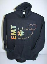 EMT- LOVE WHAT YOU DO- Love being an EMT- Hoodie Sweatshirt XL, Black