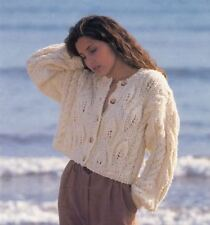 Knitting Pattern Lady's Chunky Cable Cropped Jacket/Cardigan 76-97 cm (140)