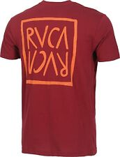 NWT MEN'S RVCA FLIP FLOP T-SHIRT SIZE MEDIUM RED BACK GRAPHIC TEE VINTAGE WASH