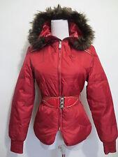 Plumifero chaqueta Killah by Sixty XS 32/34 capucha webpelz cinturón oscuro rojo/01