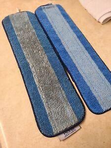 Lot of 2 Bona Blue Microfiber cleaning Pads-EUC-FREE SHIPPING