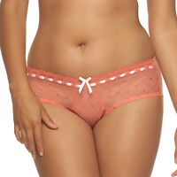 CURVY KATE Portia Ribbon BOY SHORT BRIEF KNICKER Spice Snow 4003 Size 14 NEW