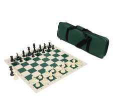 Forest Green Bag Triple Weighted B USCF Sales Quiver Chess Set Combination