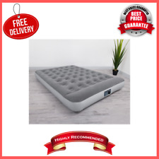 "12"" Air Mattress with Built In Ac Pump Soft Top Pillow Inflatable Airbed, Twin"