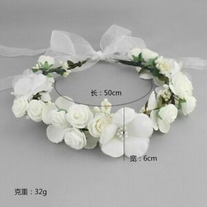 Wedding Flower Crown Headband Floral Wreath Ladies Christmas Hair Accessories