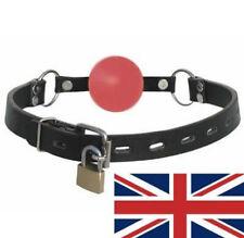 Cuero Rojo Ball Gag, Con Llave, del Reino Unido con envío rápido, Decreet embalaje