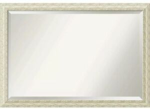 Wall Mirror Extra Large, Cape Cod White Wash 40 x 28-inch - White Washed - extra