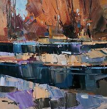 JOSE TRUJILLO Oil Painting IMPRESSIONISM LANDSCAPE CONTEMPORARY ORIGINAL ART