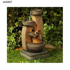 Indoor Outdoor Water Fountain Waterfall Statue Sculpture Patio Garden Zen Serene