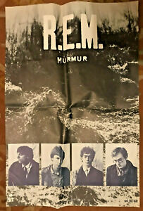 "Vintage REM R.E.M. ORIGINAL MURMUR 1983 Large 24""x36"" Promo Poster RARE!"