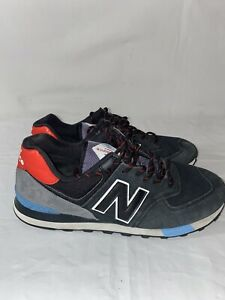 New Balance 574 Classic Mens Size 10.5 Black Red Running Shoes Lace Up ML574JHO