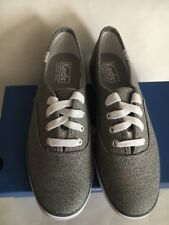 NIB Keds Sweatshirt Jersey Gray/White Woman's Shoes Sneakers US Size 6M
