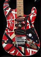 EVH Striped Series Red/white/black Modified Frankenstrat Type  By *Judah Guitars