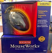 Kensington Mouseworks 4-Button Mac/PC Mouse 72111 NEW IN BOX!