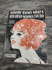 Vintage Rare Nobody Knows What A Red Head Mamma Can Do Sheet Music 1924