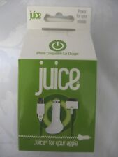 Juice Apple iPhone iPod iPad Mobile Phone Car Charger 1.5M Coiled Cable Green
