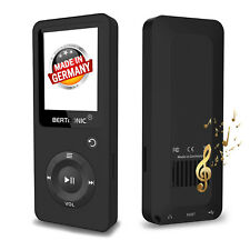 BERTRONIC Made in Germany BC02 MP3-Player - Schwarz - 100 Stunden Wiedergabe