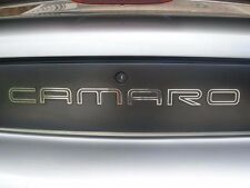 GM LICENSED, 93-02 CAMARO REAR BUMPER INSERTS LETTERS FILLS STAINLESS STEEL EX