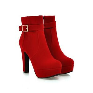 Women's Shoes Boots Fashion Insulated Faux Suede Buckle Platform Special Fashion