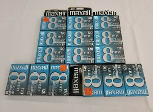 🔥Maxell GX-MP High Quality 120 Min 8mm Video Cassette Tapes Lot of 15 Sealed